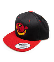 Grin Logo Black & Red Snapback Hat *LIMITED RUN*