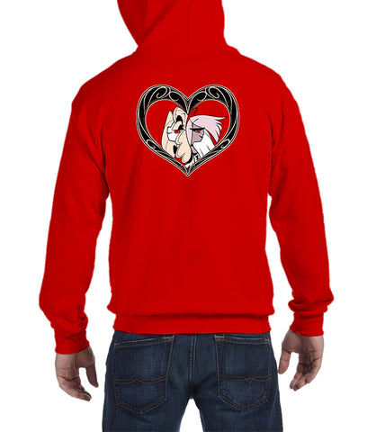 ZIP UP HOODIE Charlie X Vaggie (RED VARIANT) *LIMITED RUN*