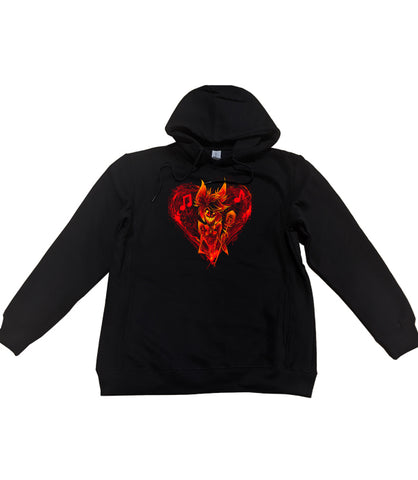 PULLOVER HOODIE Alastor's Bleeding Heart *LIMITED RUN*