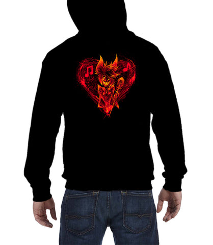 ZIP UP HOODIE Alastor's Bleeding Heart *LIMITED RUN*