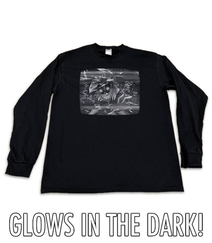 LONG SLEEVE Incoming Broadcast GLOW IN THE DARK *LIMITED RUN*