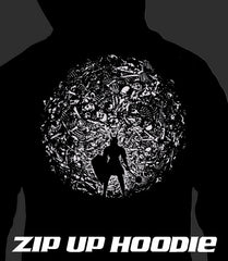 ZIP UP HOODIE Skeleton Ball (Add 2-4 WEEKS PROCESSING TIME)