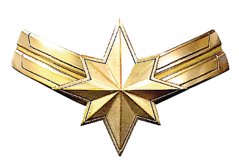 Captain Marvel Star Logo Pewter Lapel Pin