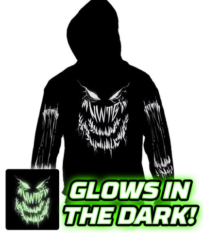ZIP UP HOODIE Count the Teeth GLOWS IN THE DARK! *PRE-ORDER*