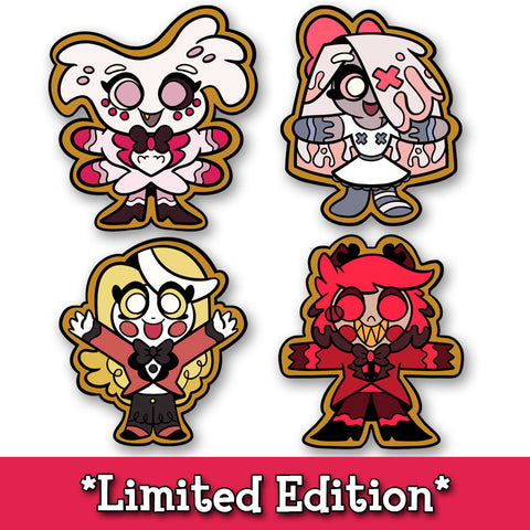 Hazbin Holiday Cookie Pin Set *LIMITED STOCK*