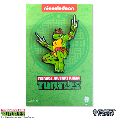 Leaping Raph - TMNT Pin