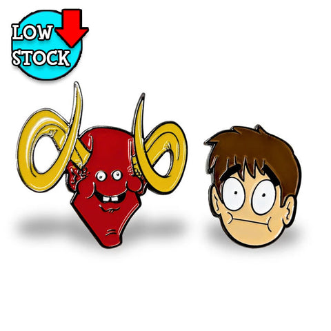 Leo and Satan 2 PACK Pin Set *LIMITED RUN*