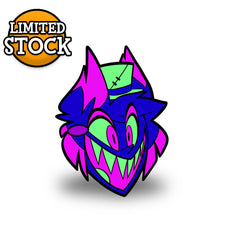 Neon Alastor Enamel Pin *LIMITED STOCK*