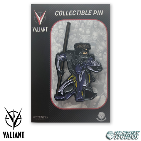 Crouching Ninjak - Valiant Comics' Collectible Pins