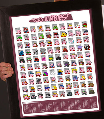 100 Kirbies! Poster *CLEARANCE*