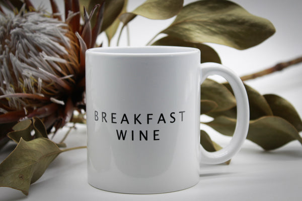 Breakfast wine mug - white