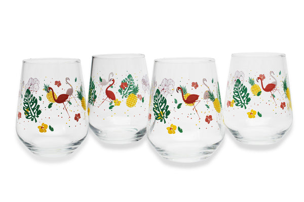 STEMLESS GLASS SET | FLAMINGO