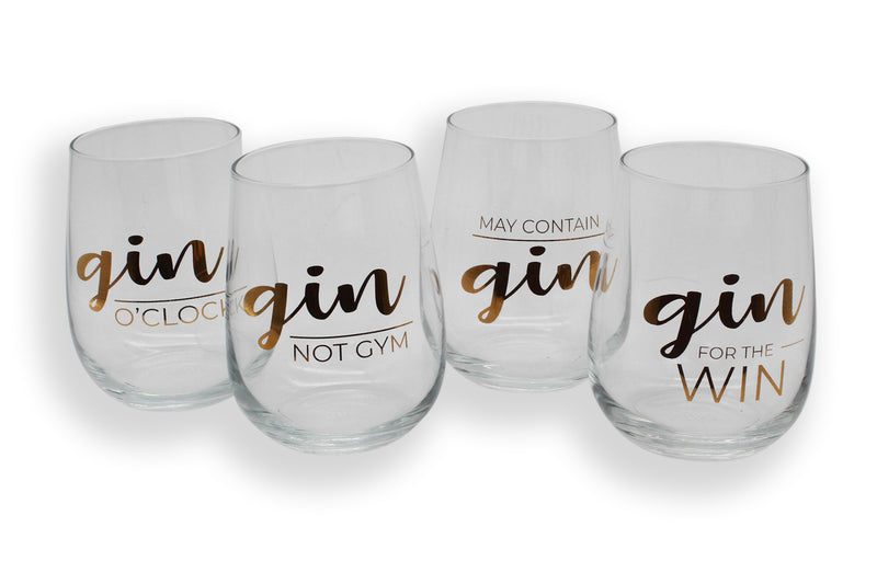 STEMLESS GLASS SET | GIN CLUB
