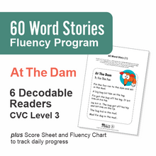 Load image into Gallery viewer, 60 Word Stories | CVC Level 1-3 | At The Dam