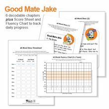 Load image into Gallery viewer, 60 Word Stories | 2.1 | CVCe - Silent e | Good Mate Jake