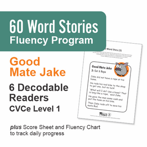 60 Word Stories | 2.1 | CVCe - Silent e | Good Mate Jake