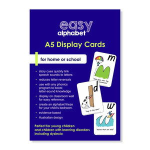 Easy Alphabet Display Cards |  A5