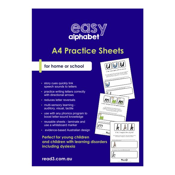 Easy Alphabet Practice Sheets | A4