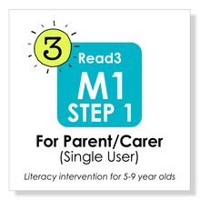 Load image into Gallery viewer, Read3 literacy intervention program | 5-9 years | Module 1 | STEP 1 | Parent