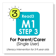 Load image into Gallery viewer, Read3 literacy intervention program | 5-9 years | Module 1 | STEP 3 | Parent