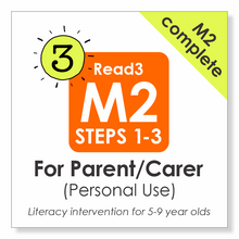 Load image into Gallery viewer, Read3 literacy intervention program | 5-9 years | Module 2 | Steps 1-3 | COMPLETE | Parent