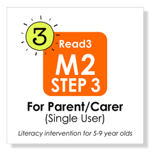 Load image into Gallery viewer, Read3 literacy intervention program | 5-9 years | Module 2 | STEP 3 | Parent