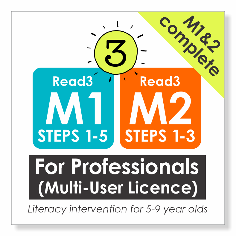 Read3 literacy intervention program | 5-9 years | Complete Module 1 & 2 | Multi-User Licence | PROFESSIONAL
