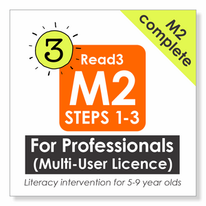 Read3 literacy intervention program | 5-9 years | Module 2 | Multi-User License | PROFESSIONAL