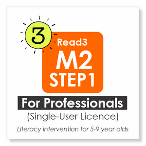 Read3 literacy intervention program | 5-9 years | Module 2 | STEP 1 | Single-User Licence | PROFESSIONAL