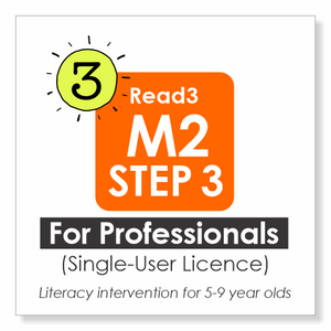 Read3 literacy intervention program | 5-9 years | Module 2 | STEP 3 | Single-User Licence | PROFESSIONAL