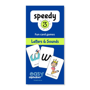Speedy3 Card Game | Letters and Sounds