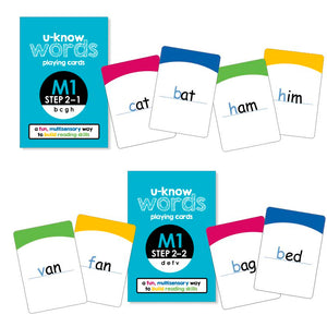 U-Know Words Card Game | Module 1 | Step 2 (2-Pack Set)
