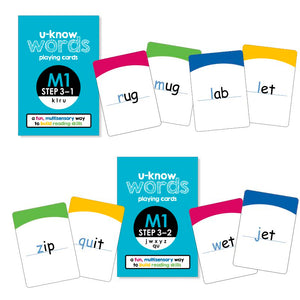 U-Know Words Card Game | Module 1 | Step 3 (2-Pack Set)