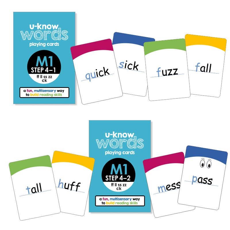 U-Know Words Card Game | Module 1 | Step 4 (2-Pack Set)