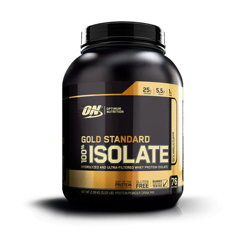 ON Gold Standard 100% Isolate Sabor Vainilla 5 LB