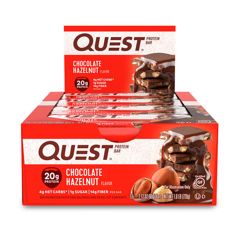Quest Barra de proteína de Chocolate y Avellanas