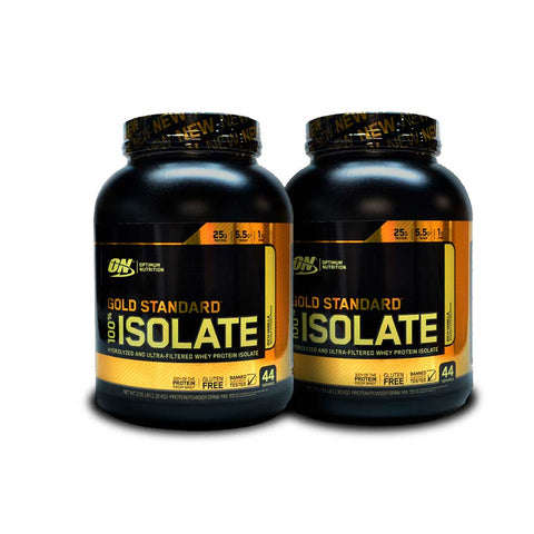 2 Botes ON  Gold Standard 100% Isolate Sabor Vainilla 2.91 LB