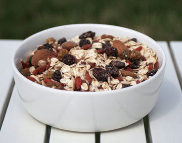 Healthy havervlokken muesli