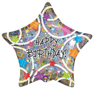 Happy Birthday - Star holographic
