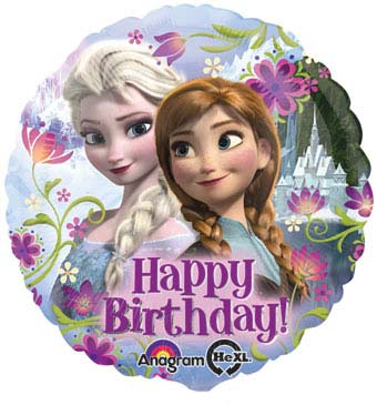 Disney Frozen Anna & Elsa - Happy Birthday