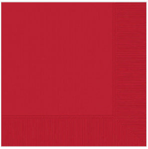 Beverage napkins - Red