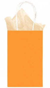 Orange Solid Kraft - Small Tote bag