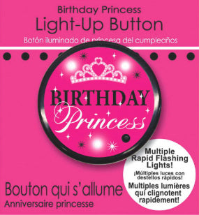 Birthday Princess Light-up button