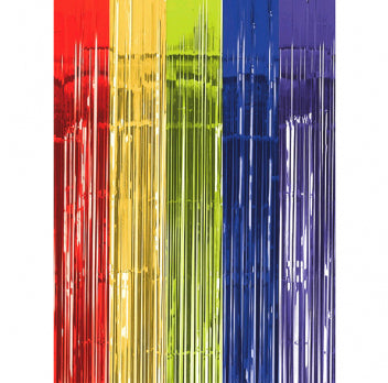 Rainbow metallic curtain