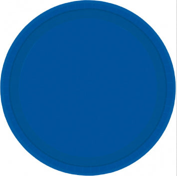 Dessert plates - round royal blue