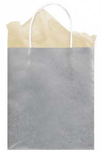 Silver Solid Kraft - Medium Tote bag
