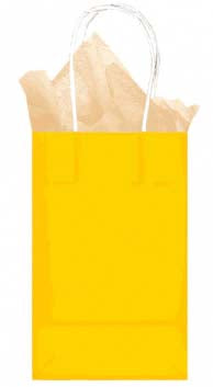 Yellow Solid Kraft - Small Tote bag