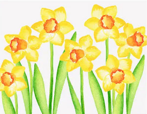 Daffodil Floral - Blank boxed notes