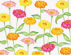 Zinnia Floral - Blank boxed notes