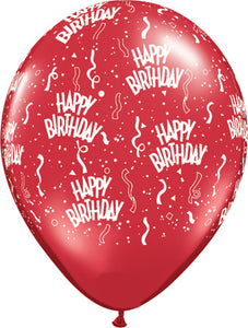 Happy birthday red- Latex balloon